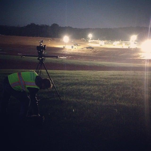 iPhone pic setting up before sunrise #morning #construction #filmshoot #breatheexcellence @charlesgeorgi