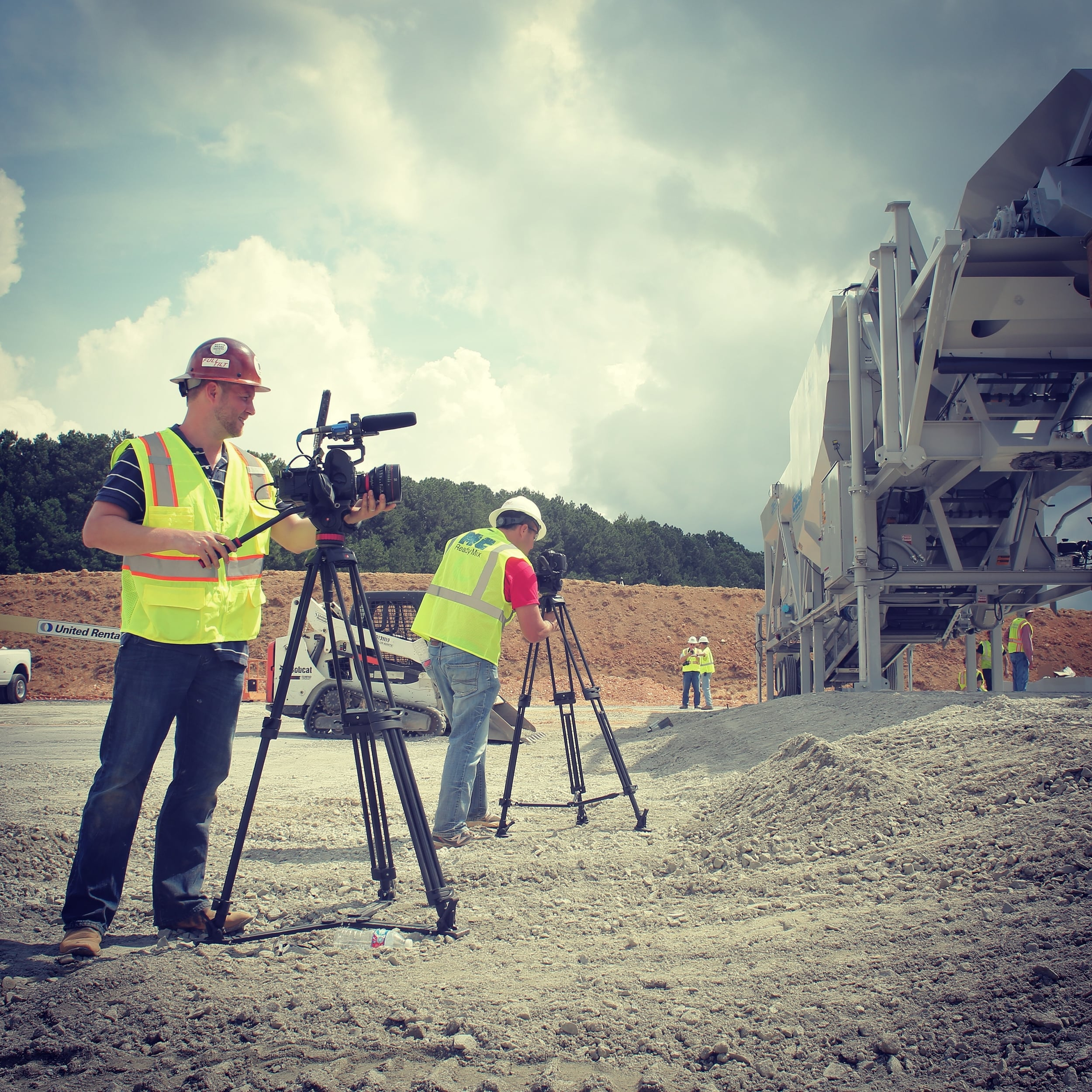We had three cameras on site shooting as Martin Concrete set up their MC ReadyMix plant.