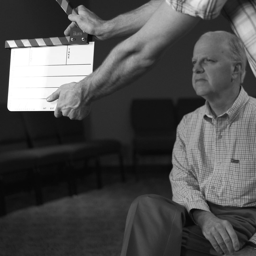 Mark Nysewander behind the scenes while shooting the  Place of Prayer  video