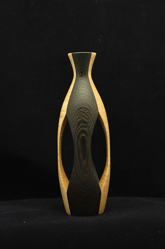 Wenge & Maple Vase (View 2) (SOLD)