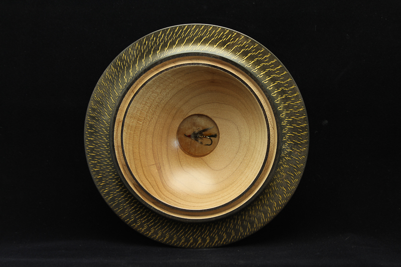 Maple Fly Fishing Bowl $150