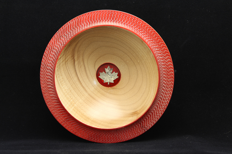 Maple Bowl with Silver Inlay (SOLD)