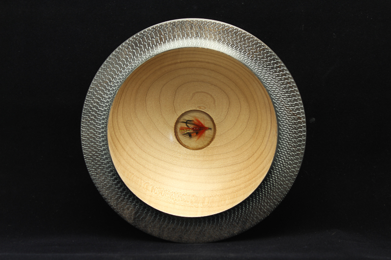 Maple Fly FIshing Bowl (SOLD)