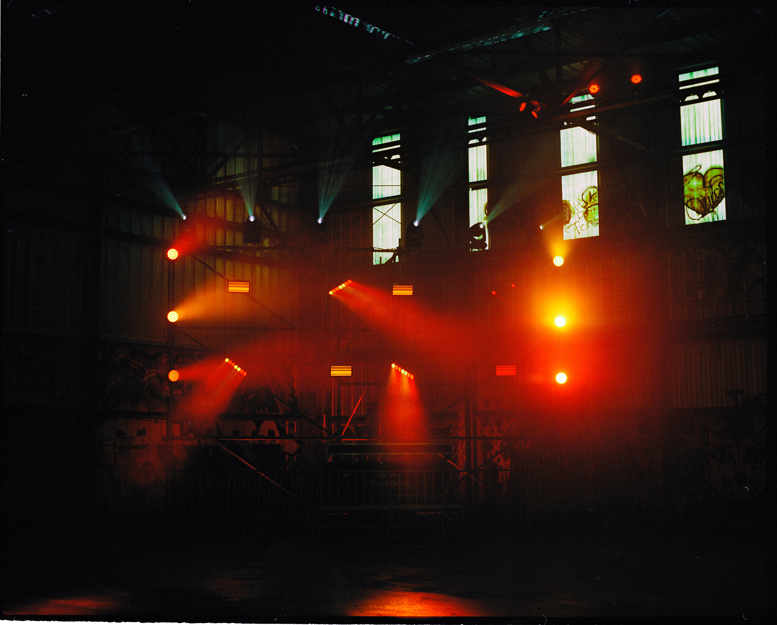 Light Show in a Warehouse, 2017