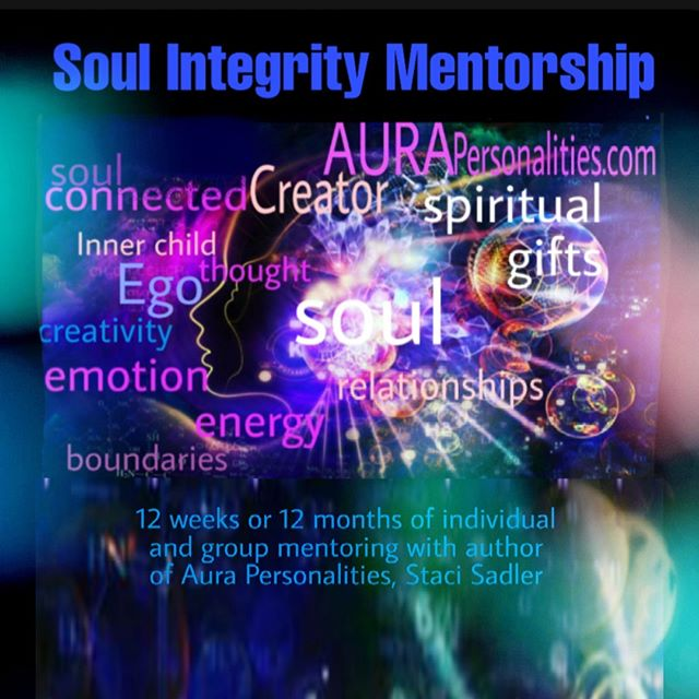 THE SOUL INTEGRITY MENTORSHIP (12 week or one-year option) starts next week. But I take a new group through the principles every three months, including a HEALING & WHOLENESS DAY RETREAT to jumpstart your journey 🥰  MESSAGE ME if you'd like a curriculum of the mentorship, then we can chat anytime this Monday or Tuesday about how the Mentorship might support you.  The SOUL INTEGRITY MENTORSHIP is: •deep INNER CHILD work, •identifying and addressing self-sabotaging EGO patterns, •embracing your unique SPIRITUAL GIFTS, and •developing clear roles and BOUNDARIES IN RELATIONSHIPS.  I'd love to mentor you in your journey toward healing, as well as learning to powerfully and fully embrace your life and gifts!—Love, Staci #soulintegrity #soulintegritymentorship #aurapersonalities #soulcoach #stacisadler #healingandwholenessretreat #innerchild #ego #boundariesinrelationships