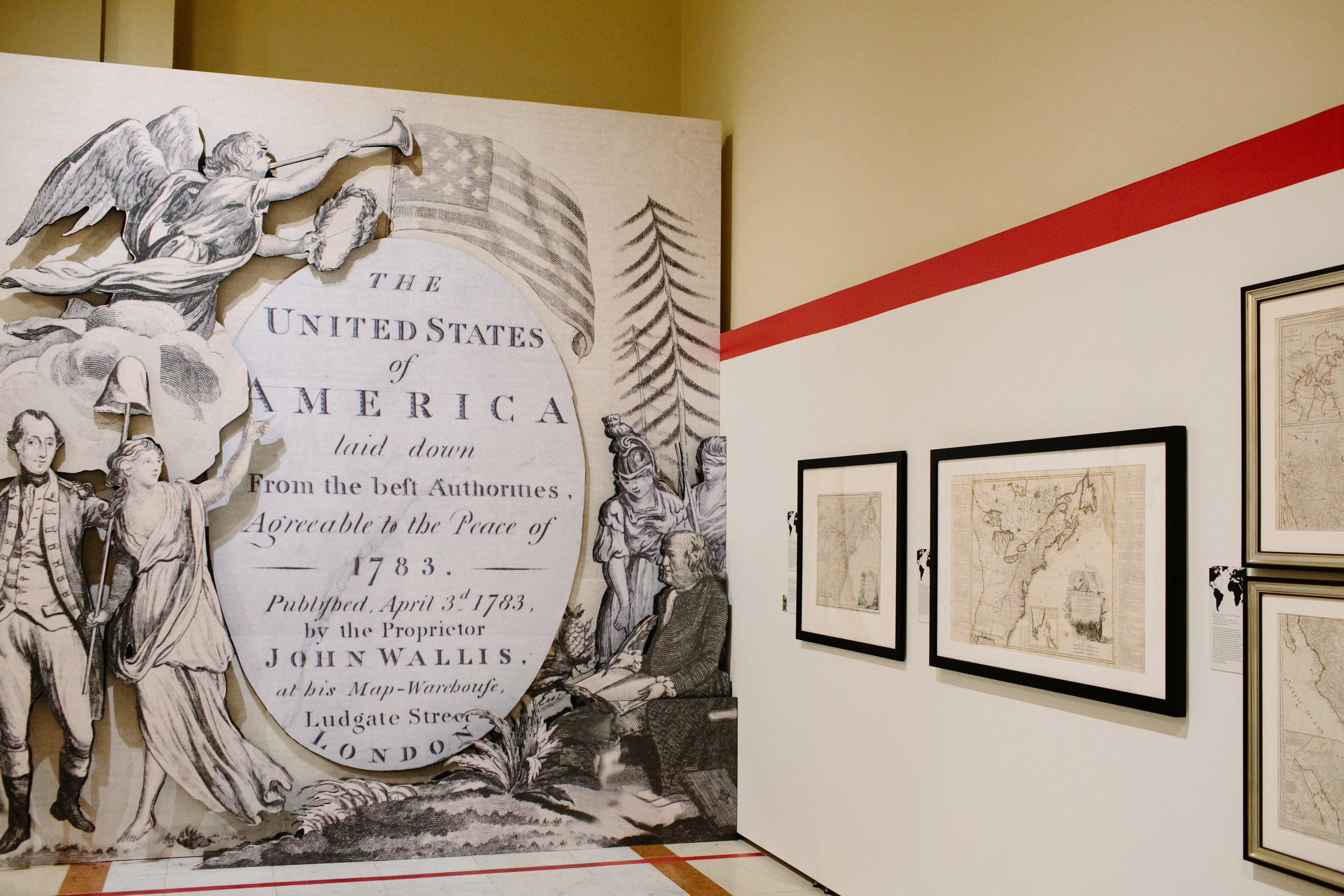 John Wallis, The United States of America Laid Down from the Best Authorities, Agreeable to the Peace of 1783 London, 1783. Engraving, hand colored, 19 x 22.5 inches