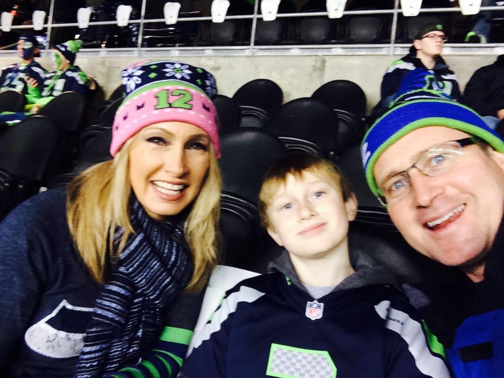 Stacy Jones, Cole Jones, & Dean Jones at a Home Game Last Season