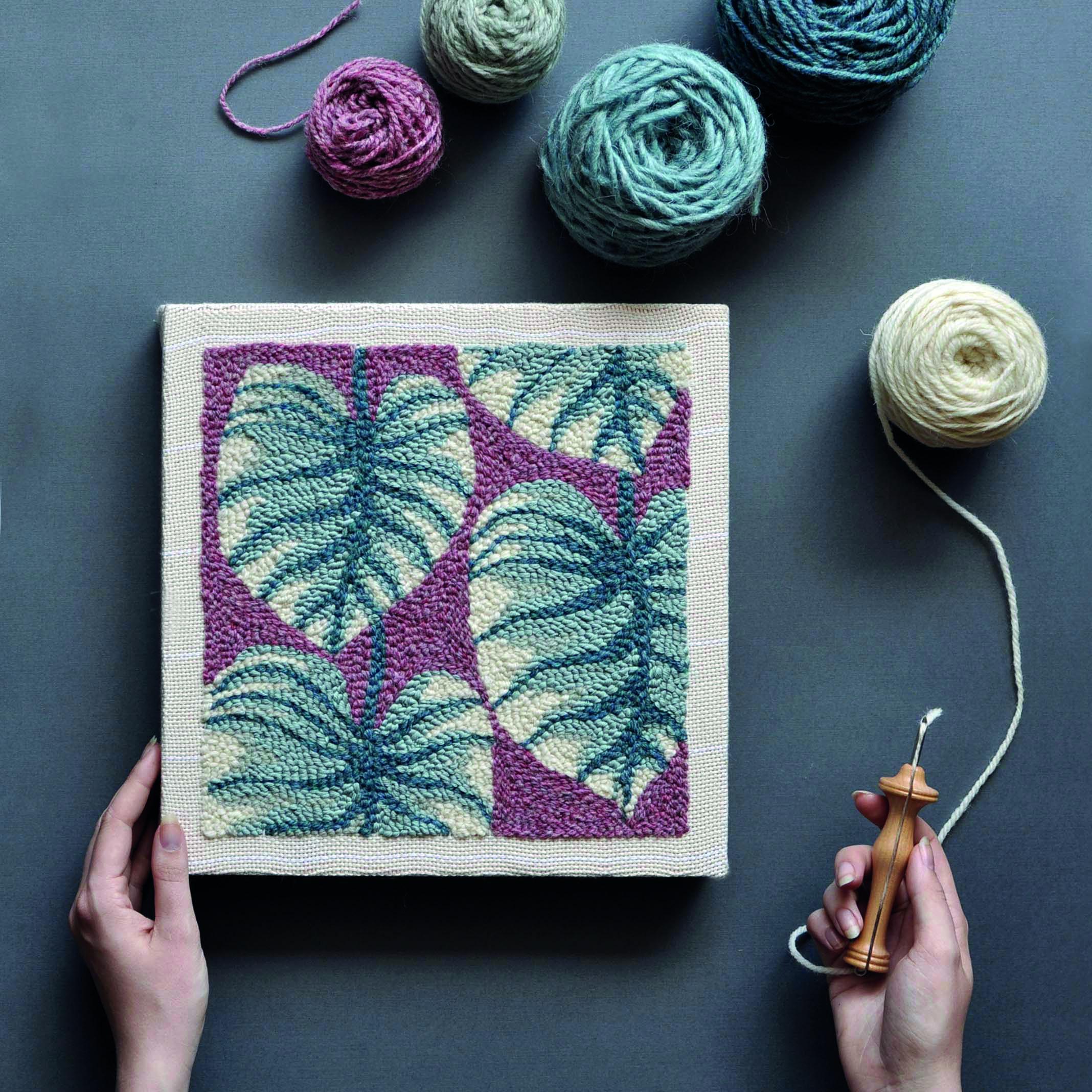 leaves pattern punch needle - arounna k.jpg