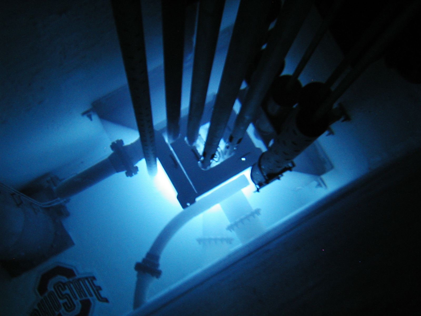 Cherenkov Light in water from the OSU research nuclear reactor.