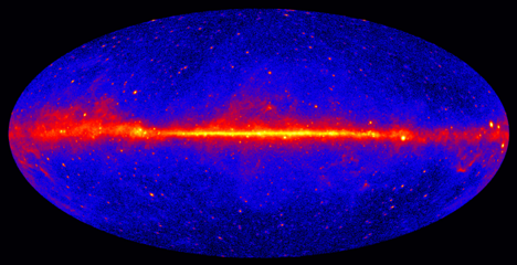 Gamma Ray Sky, as Seen by Fermi-LAT (NASA, Fermi Collaboration)