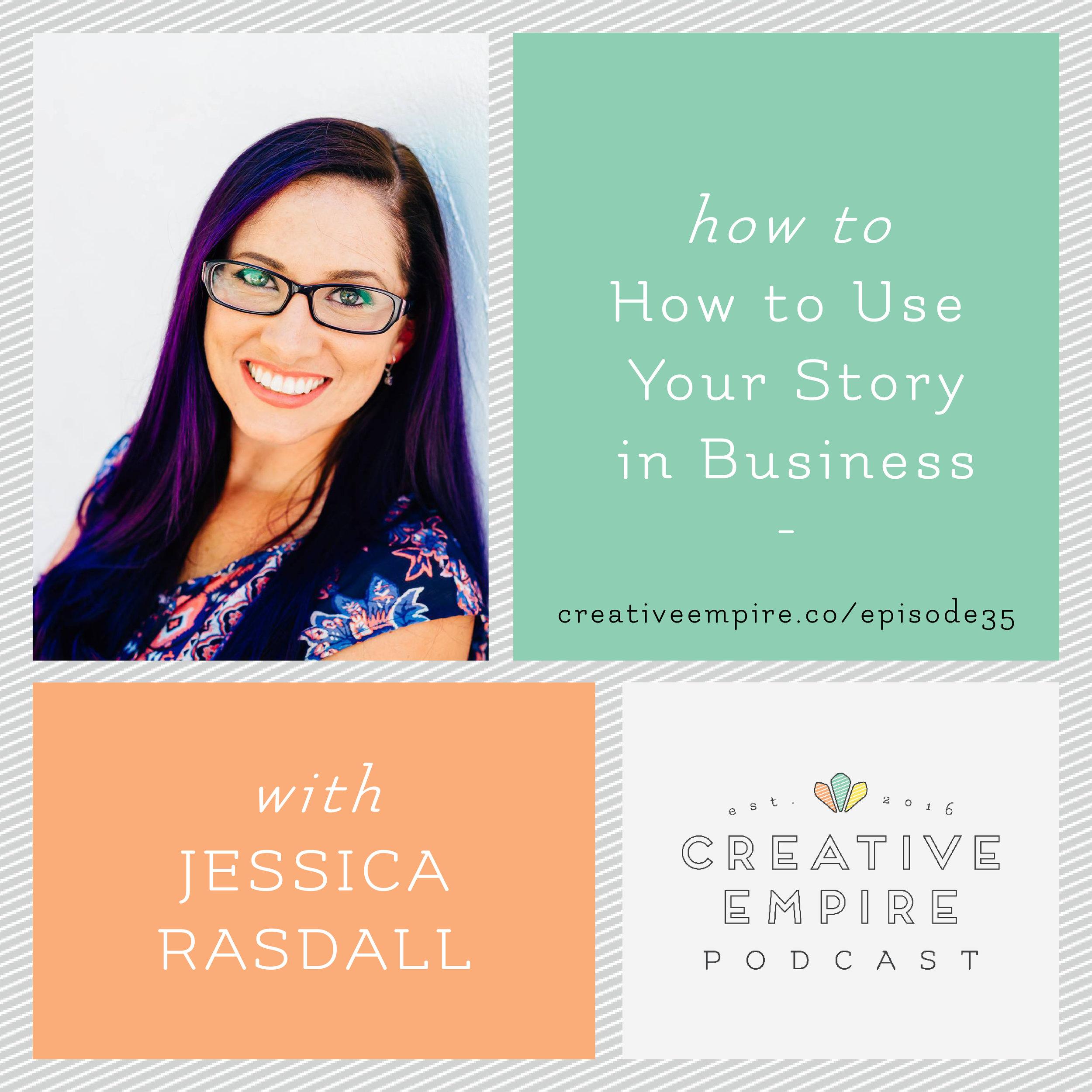 Jessica Rasdall on the creative empire podcast