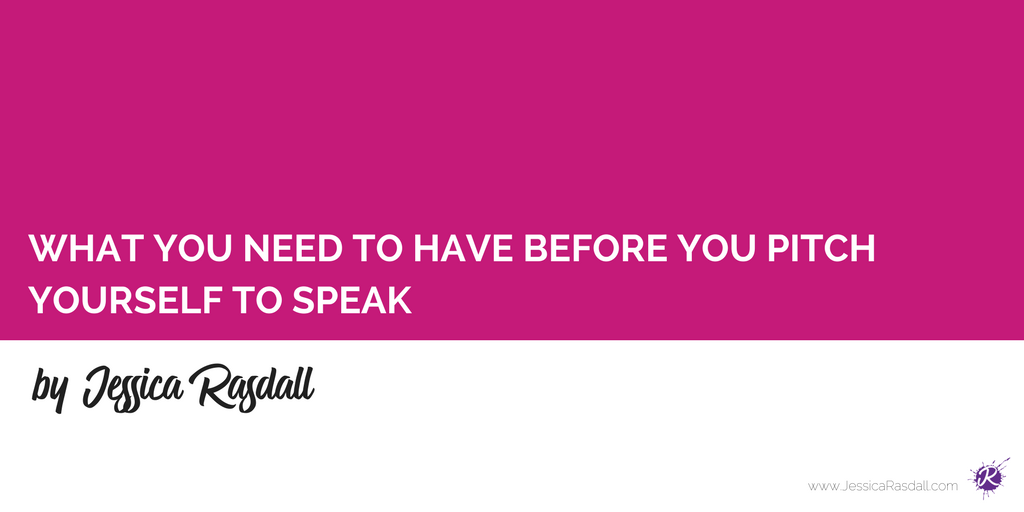 That means, you're going to need to get comfortable pitching your presentation beyond an application. In order to help you position your talk like a pro, I'm going to break down exactly what you need to have BEFORE you pitch yourself to speak.