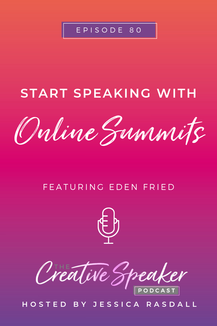 Start Speaking with Online Summits