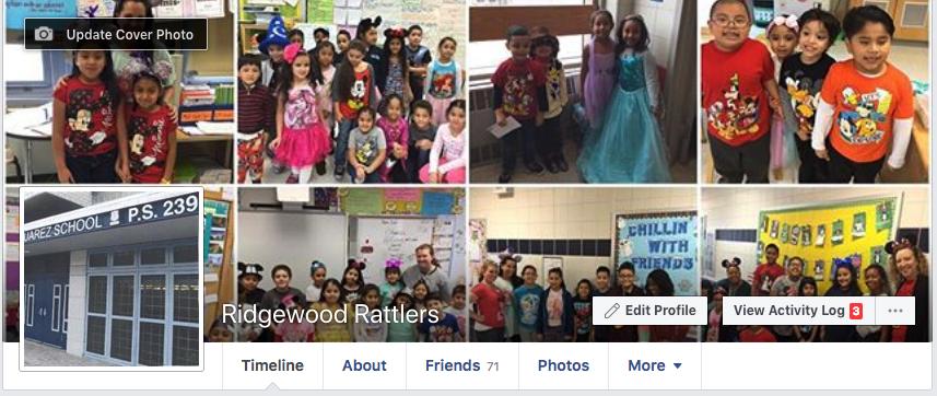 Screenshot of facebook homepage