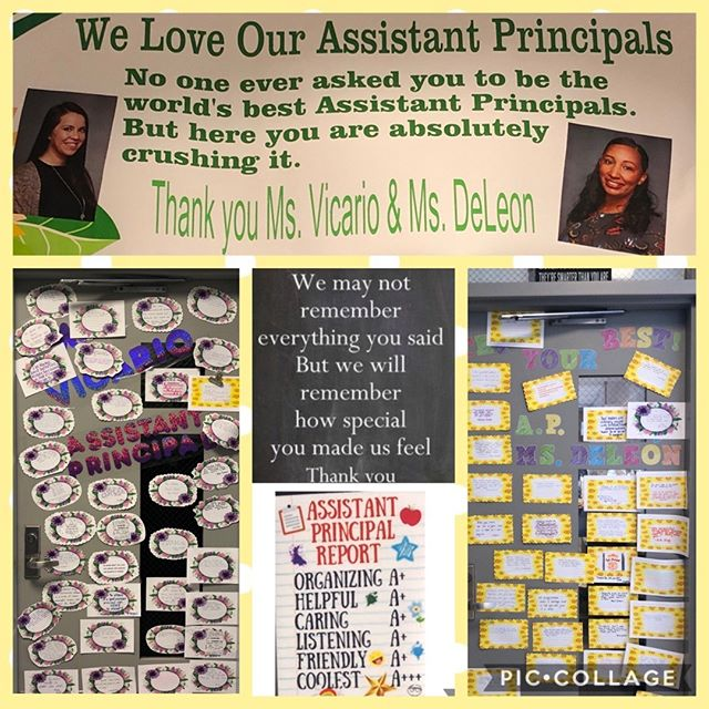 Today we celebrate our incredible Assistant Principals, Mrs. Vicario and Ms. De Leon. They are the true definition of leadership, support and positivity. We thank you and love you! 🍎📓✏️
