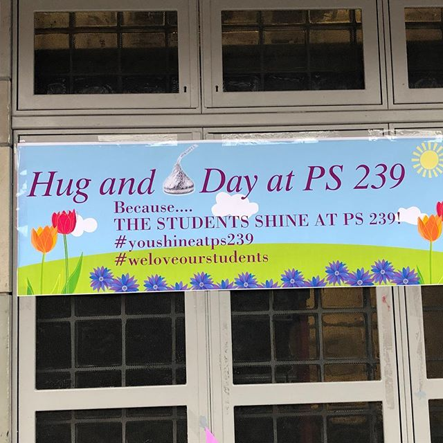 Today is very special and memorable day at P.S 239. During morning arrival, we celebrated how much we love and adore our students by giving each student a hug and a bag of kisses. Happy Hug Day! ❌⭕️❌⭕️