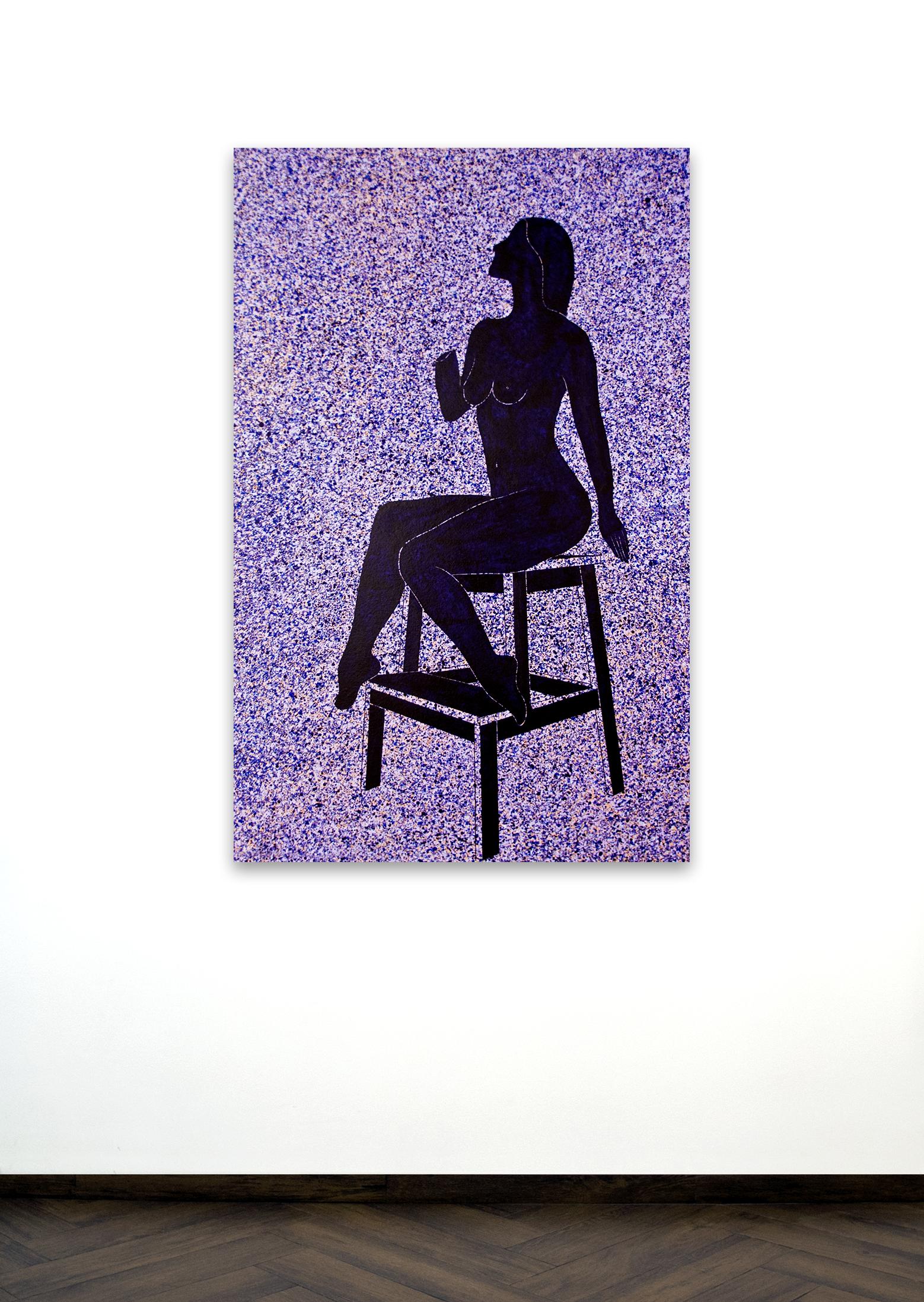 Skoya Assémat-Tessandier, Sleeping Beauty °II, 2014 140cm x 90cm, Acrylic on canvas, wooden stretchers.
