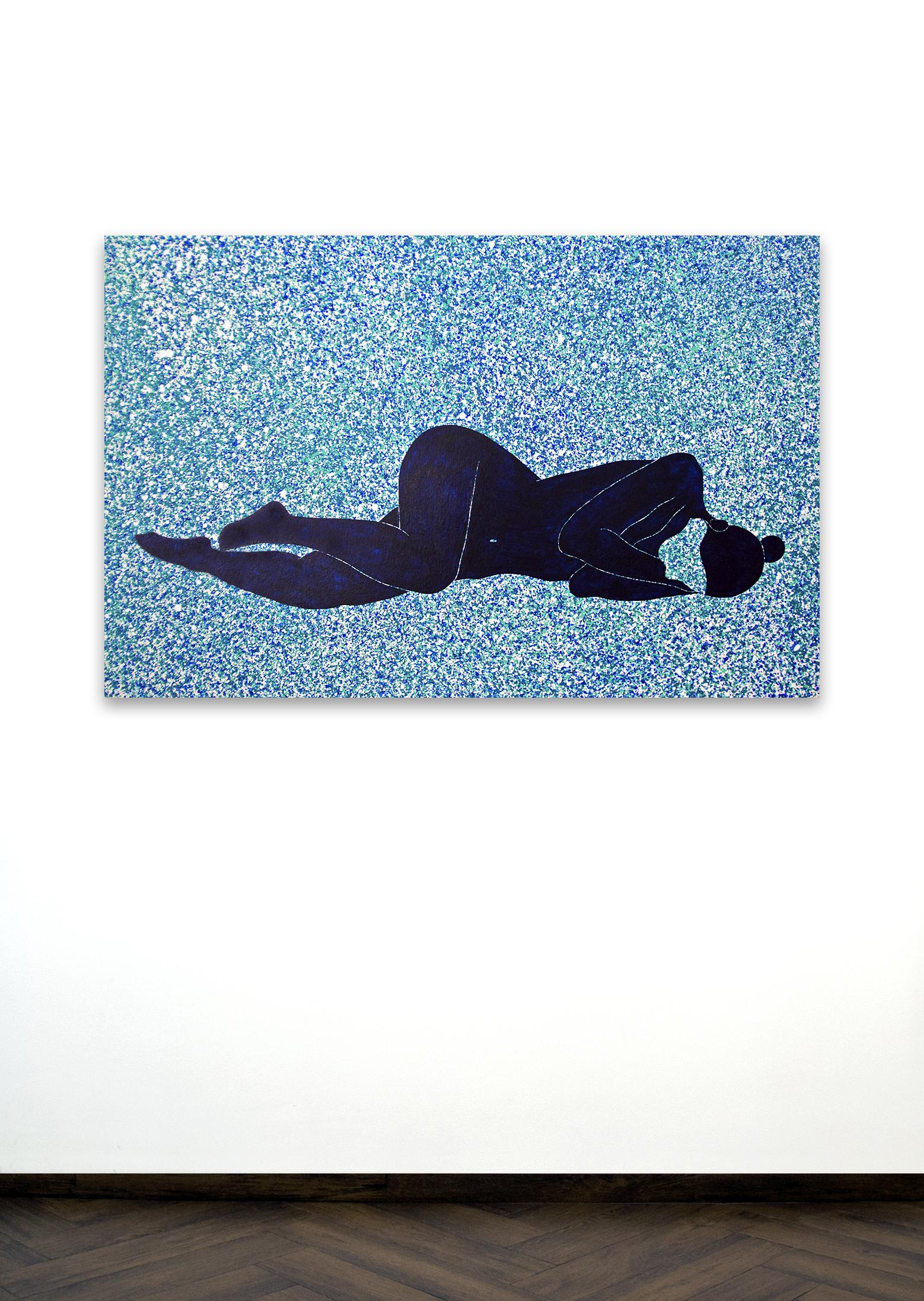 Skoya Assémat-Tessandier, Sleeping Beauty °I, 2014 90cm x 140cm, Acrylic on canvas, wooden stretchers.