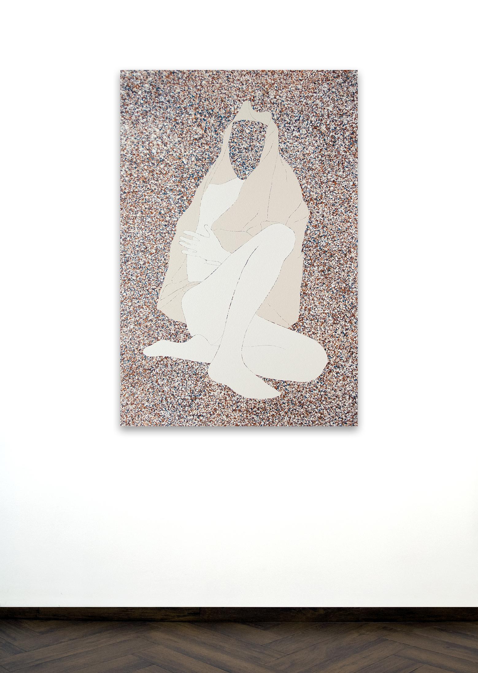 Skoya Assémat-Tessandier, Sleeping Beauty °IX, 2015 135cm x 95cm, Acrylic on canvas, wooden stretchers.