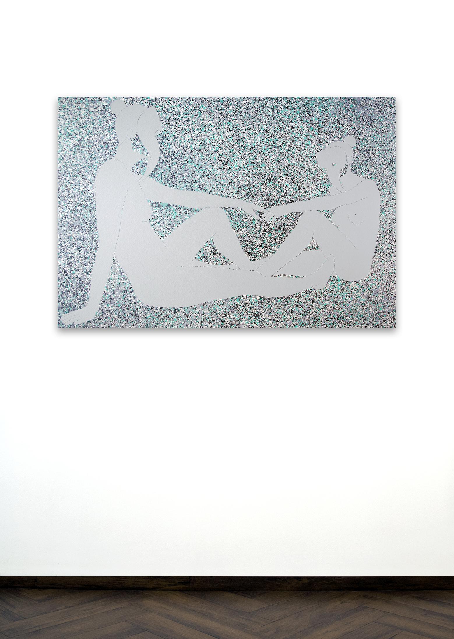 Skoya Assémat-Tessandier, Sleeping Beauty °X, 2015 90cm x 135cm, Acrylic on canvas, wooden stretchers.