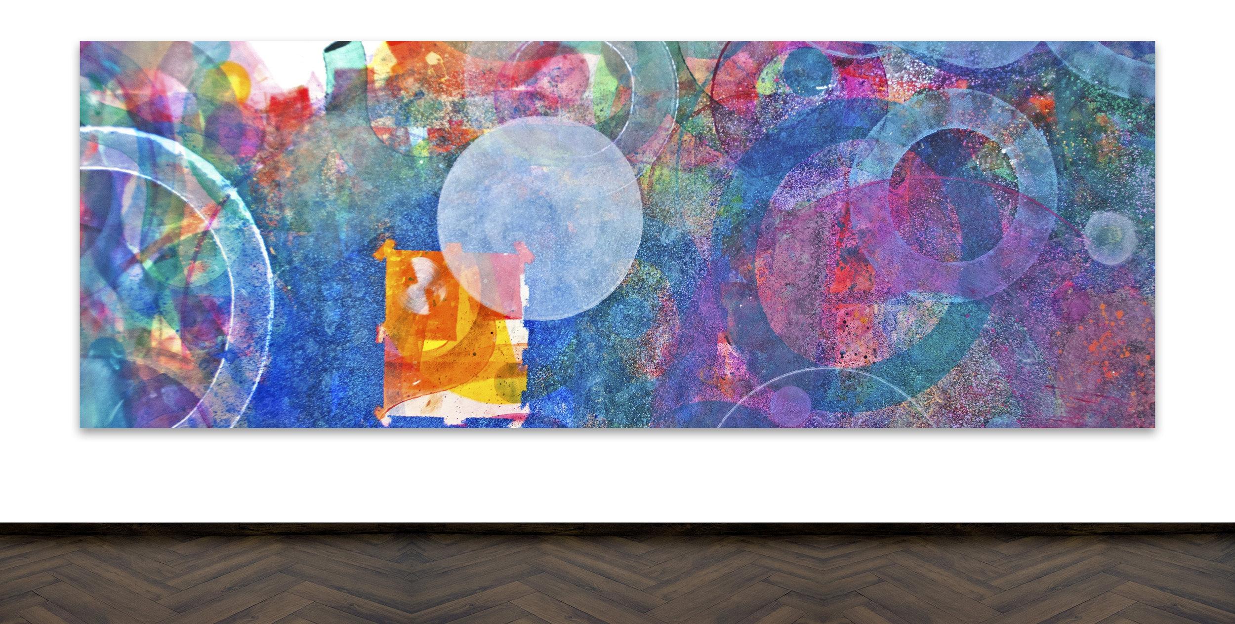 Skoya Assémat-Tessandier, Peinture Automatique XXVI, 2015 180cm x 495cm, Acrylic on canvas, wooden stretchers.