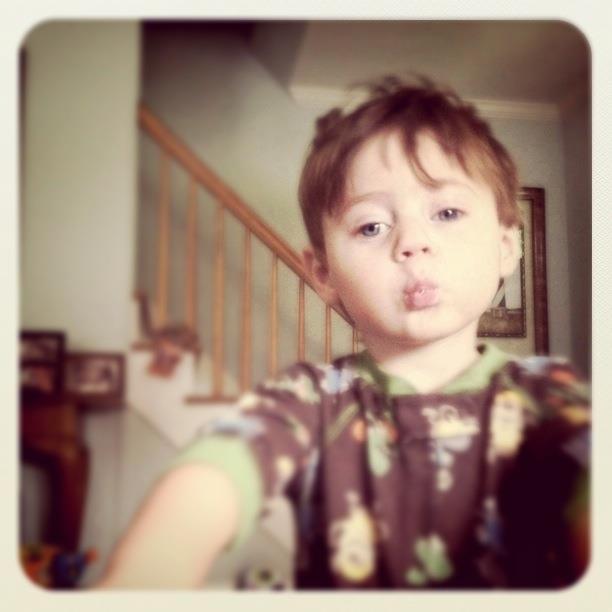 Jackson's kiss face.