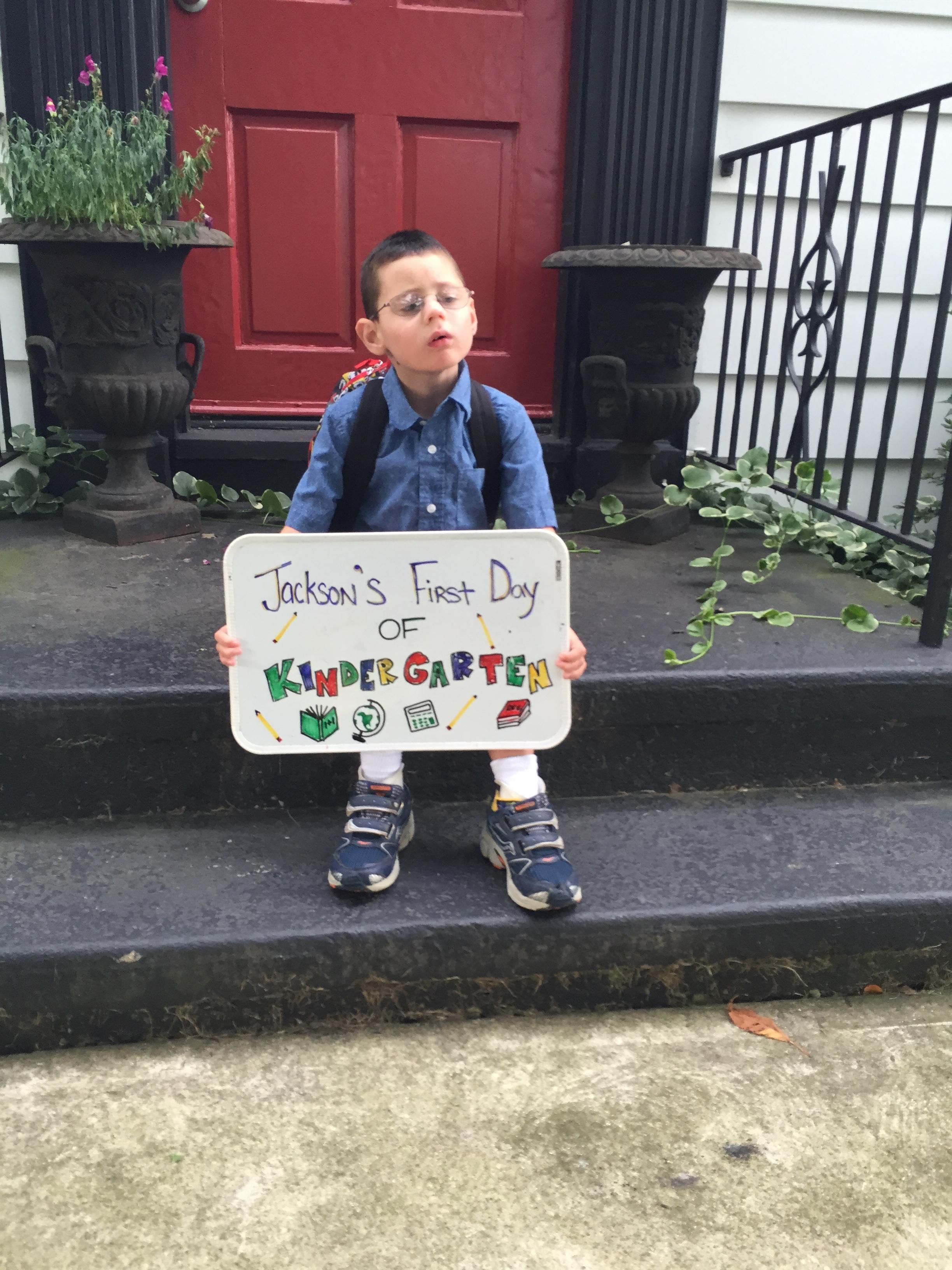 Jackson's First Day Of Kindergarten