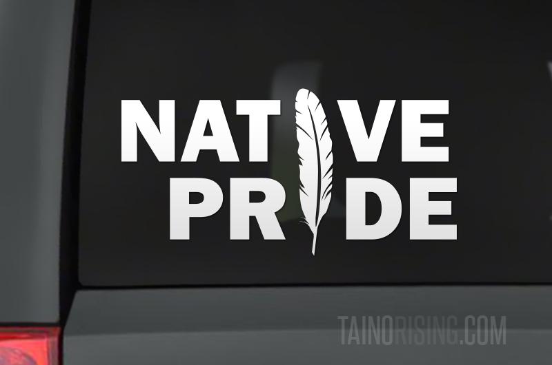 Native Pride Decal Tribal type geometric font.