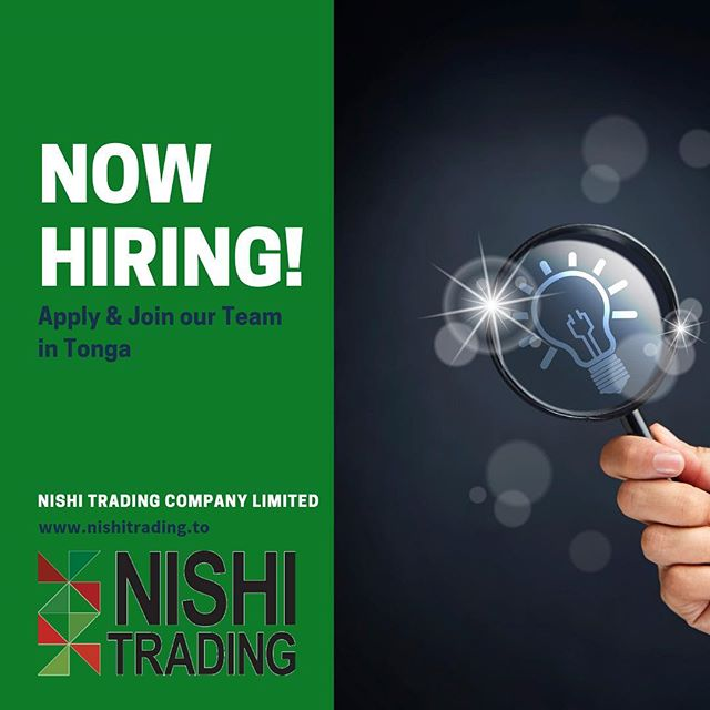 We want you! We are looking for Food Technician to assist our team to develop our expanding product line. If you know of someone who is interested in exciting prospects in #Tonga 🇹🇴 then check out our website www.nishitrading.com/news.