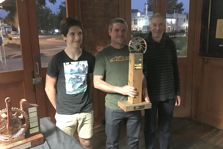 Dirt Crits winners, James, Dan (not Damian) and Bocky.
