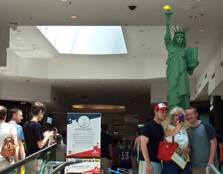 Statue of Liberty, 320 hours to assemble at 1:25 scale.