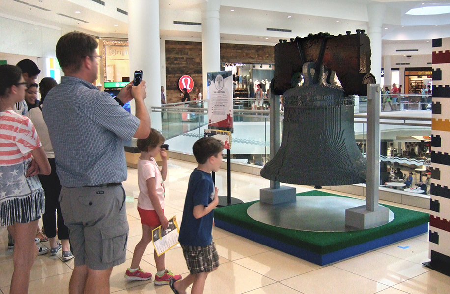 Liberty Bell, 430 hours to assemble at ACTUAL SIZE. Though this bell could never be rung, since it's not at all hollow.