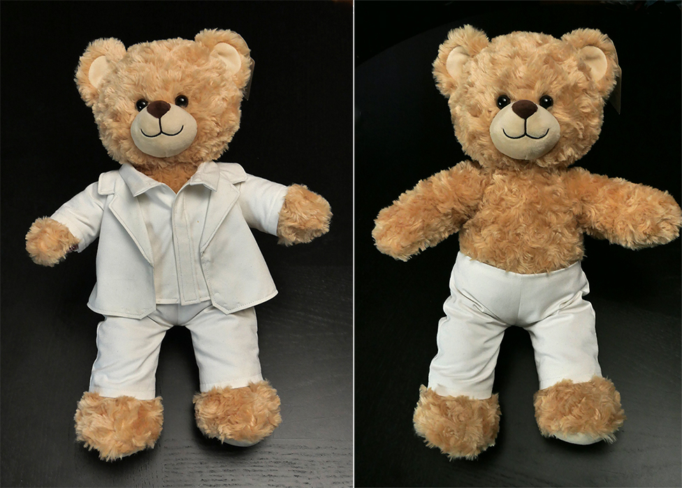 If your bear wants to wear a classy suit, he may need a pair of pants...  I'll show you how to follow the sewing pattern and make a pair for yourself!