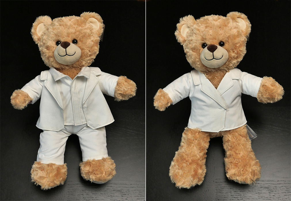 Whether it's a suit coat or blazer, this Build-A-Bear jacket is one classy look! I'll show you how to make one for yourself in this two-part entry...