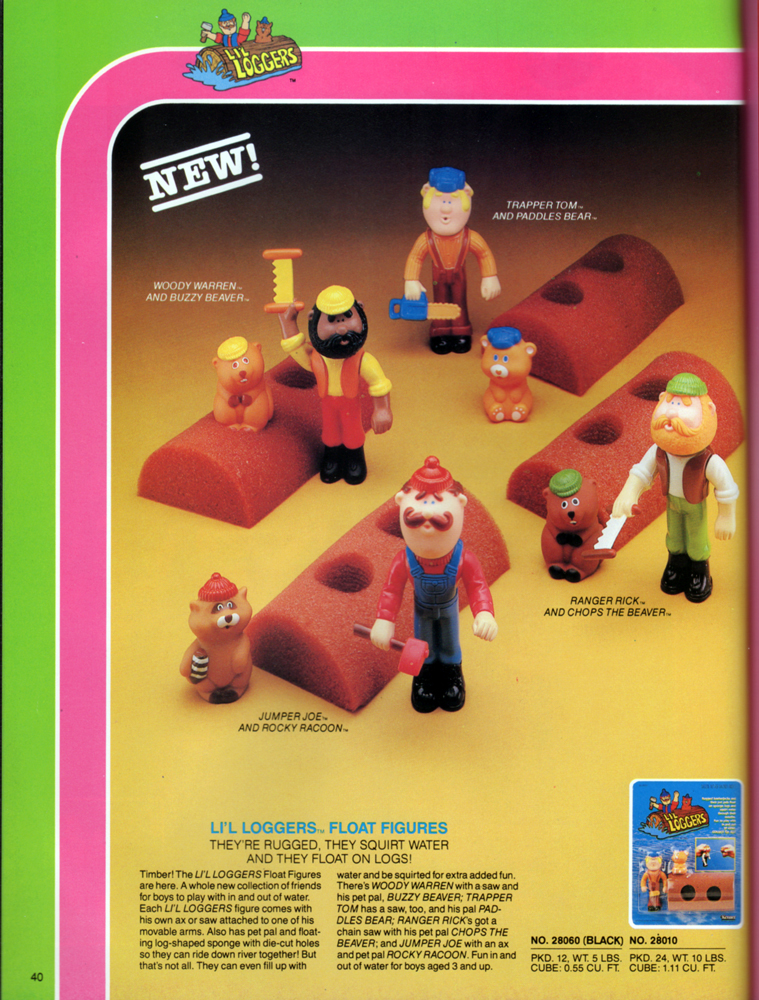 Li'l Loggers from Kenner Products, 1983.