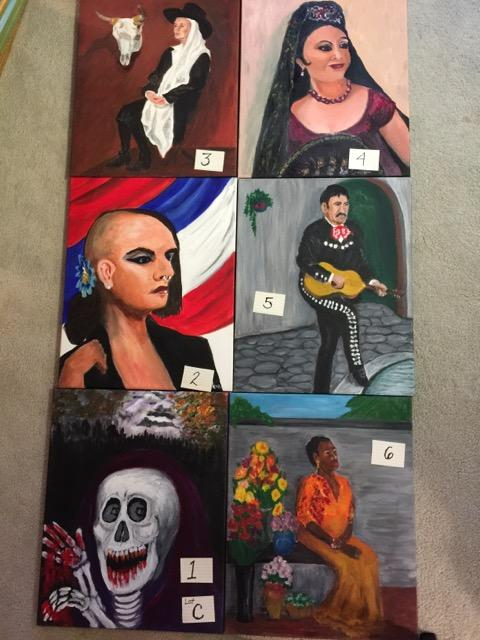 Paintings: Lot C, 1 through 6