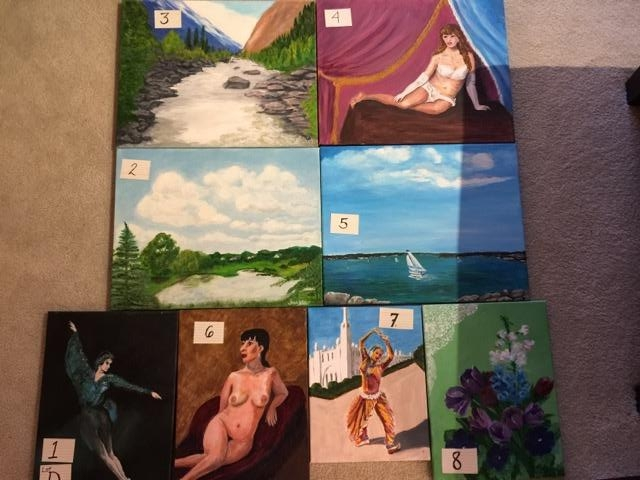 Paintings: Lot D, 1 through 8