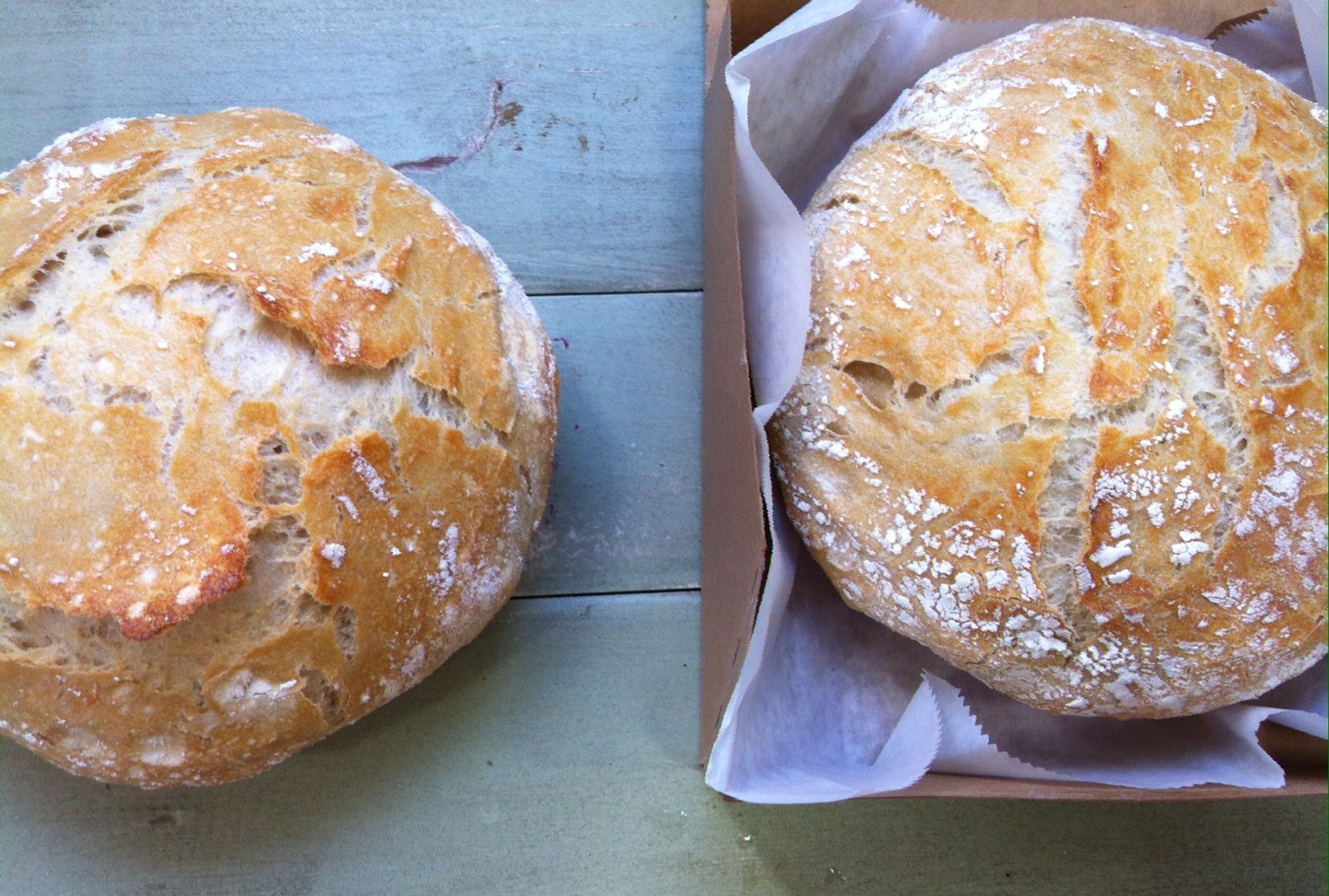 Artisan Bread! Great for breakfast toast (Don't forget the butter!) or lunch sandwiches... YUM!