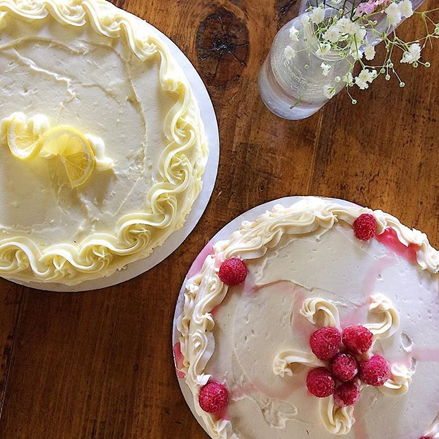 Old-fashioned Vanilla Raspberry and Luscious Lemon are BOTH available in the bakery on Saturday (by the slice -or- whole)  Saturday Hours: 7am-12pm
