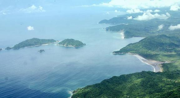 Aerial view, Curú wild life reserve and Tortuga Island.jpg