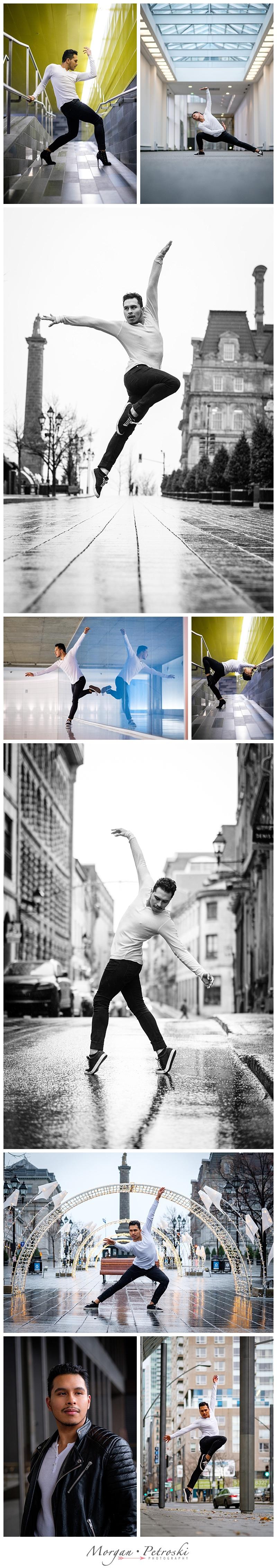 Man dancing in heels around Montreal