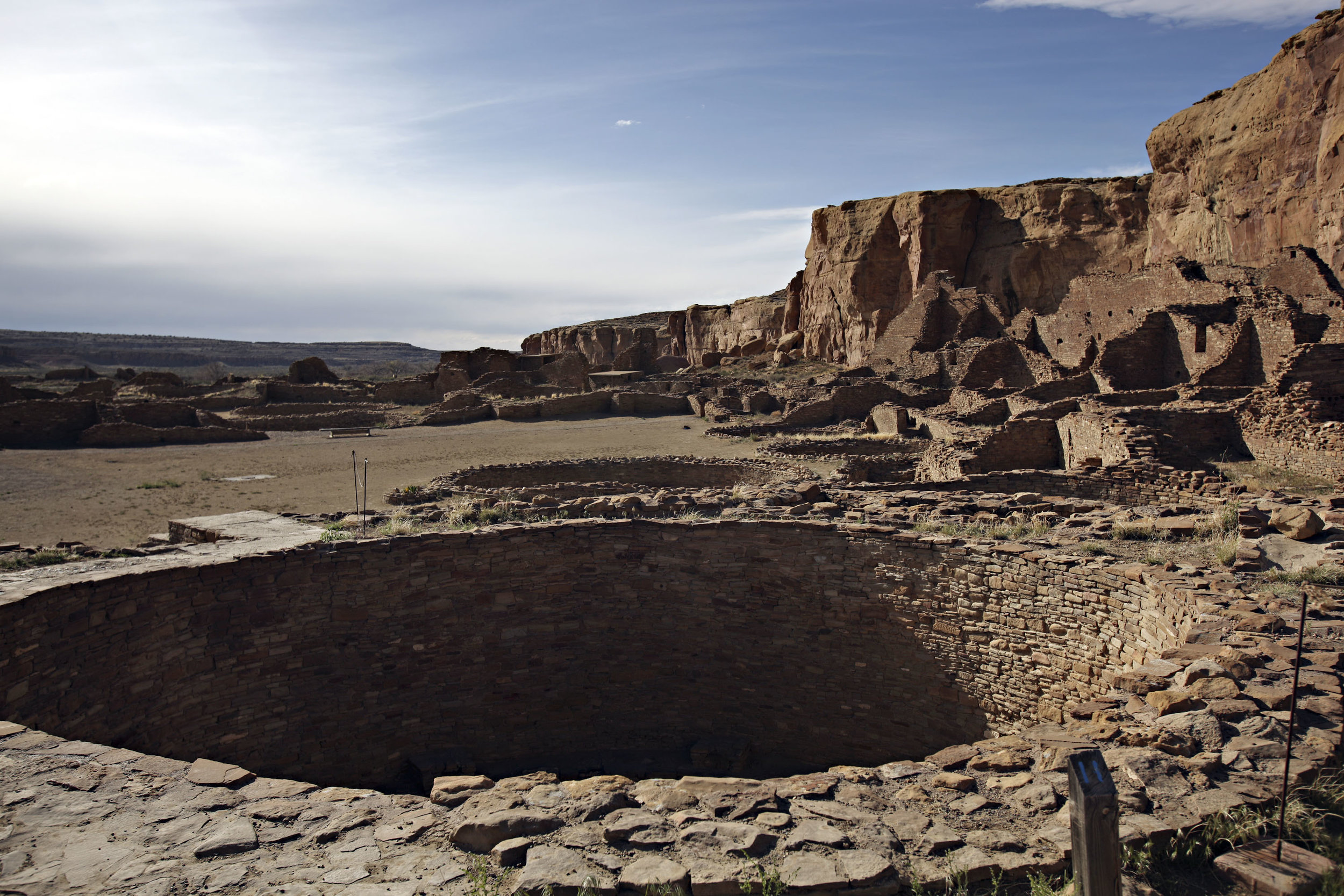 Chetro Ketl at Chaco Canyon, Thursday, April 26, 2012. (Morgan Petroski/Albuquerque Journal)