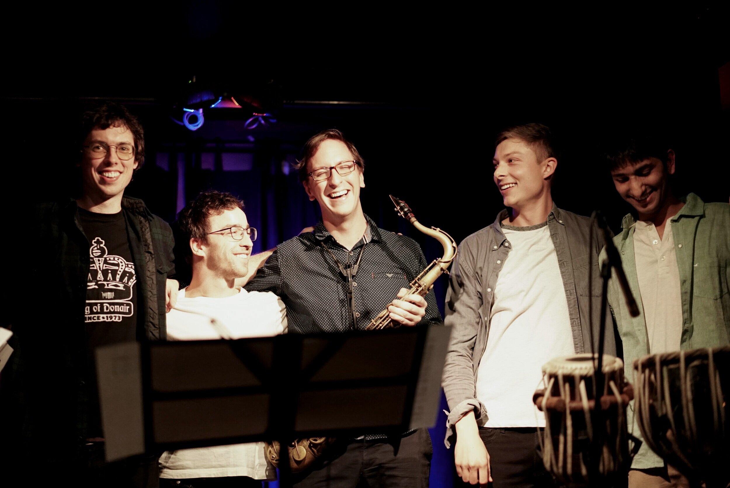 Søren Nissen's Departures Band (James Hill, Ian Wright, Jeff LaRochelle, Søren Nissen, Agneya Chikte)