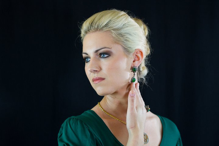 Sarah LOVED the jewelry she modeled for designer Katana's website launch! More photos to come!