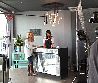 Sarah filmed her first infomercial! Modeling a hair product that boosts volume, she demonstrated the before/after results in an upscale NYC-based salon. Footage to come!