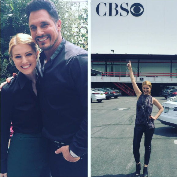 Sarah shot a recurring role for CBS' The Bold and the Beautiful. Tune in on May 5 and May 8 to see her performance on the tantalizing soap opera!