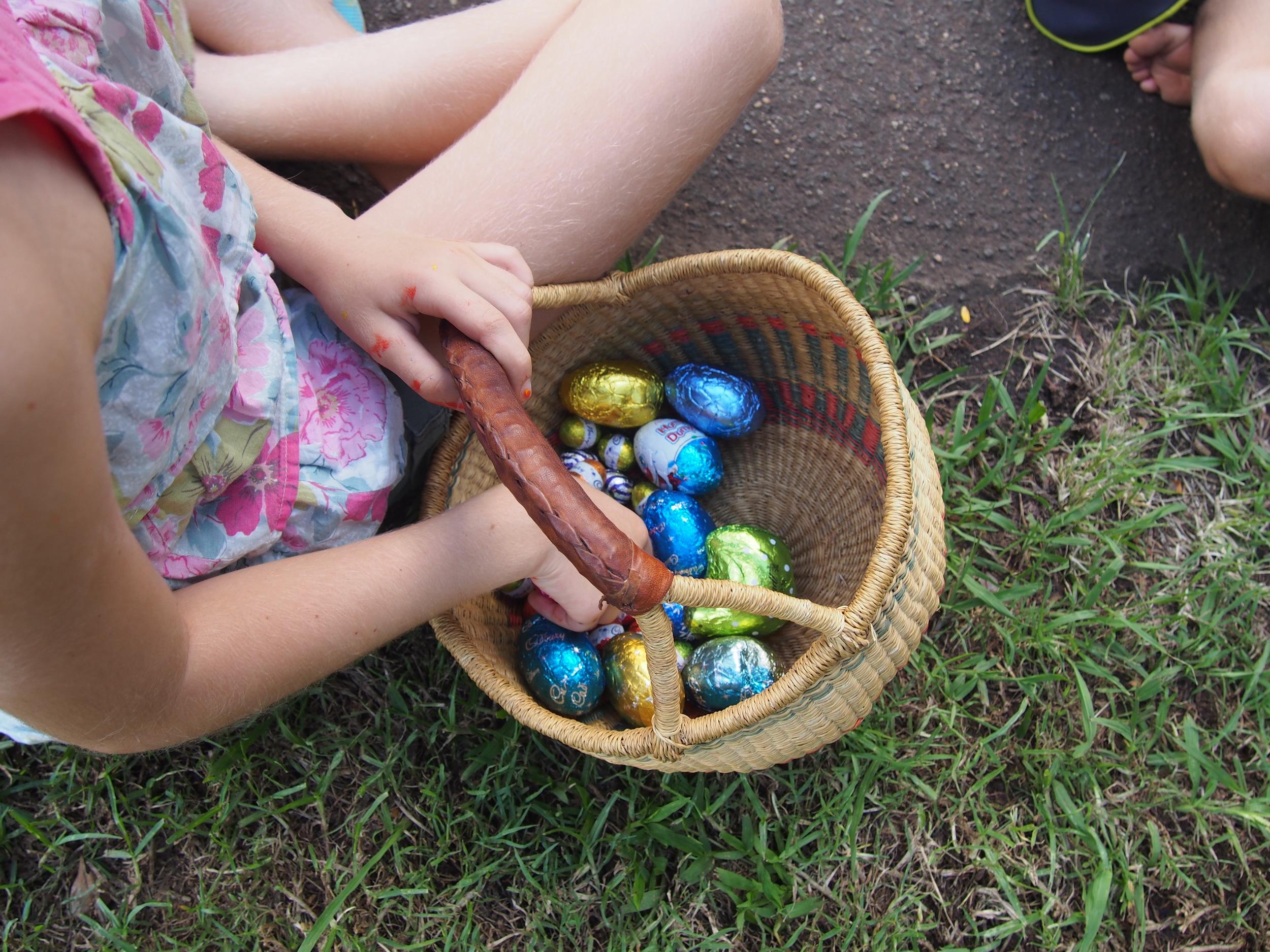 Eggs were gathered.