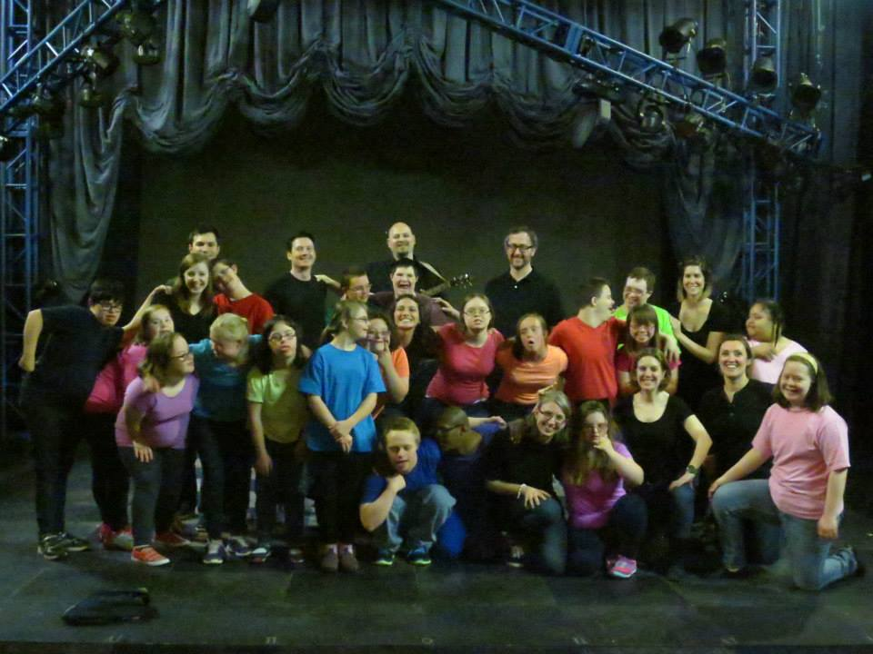 The cast and crew of our most recent stage production,  Adventures in Wonderland  (May 2015)