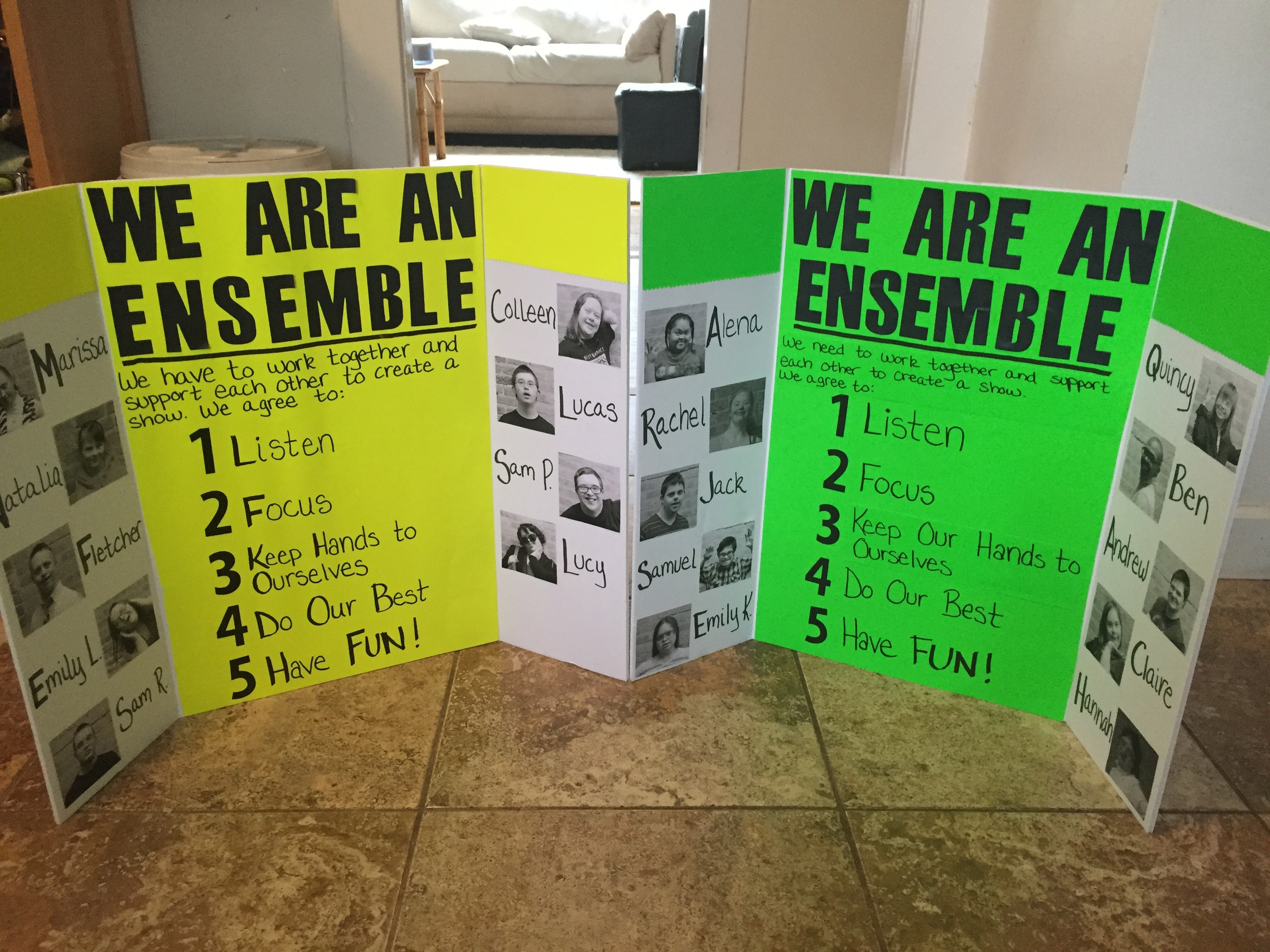 Our ensemble boards: The Lemons and The Limes