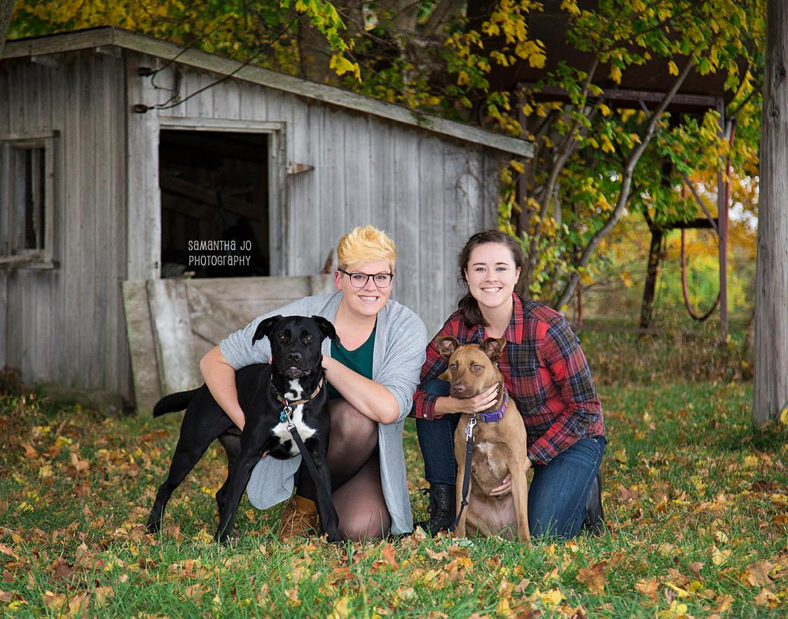 A.B.L.E. Volunteers Kaylie and Beth (and their four-legged friends!)    photo credit: Samantha Jo Photography